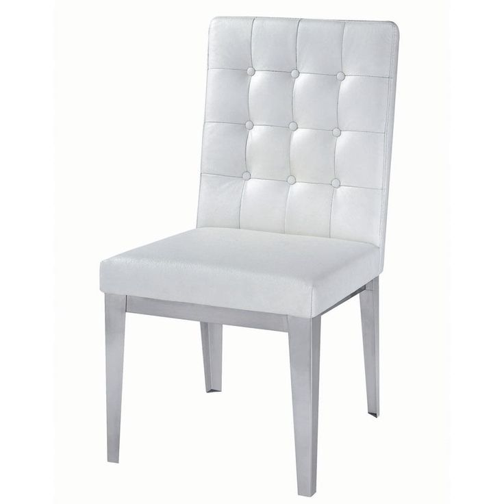 Modern White Leather Dining Chairs Leather Dining Chairs