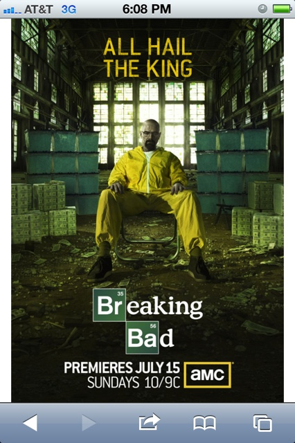 ALL HAIL THE KING! I <3 Walter White...Breaking Bad.