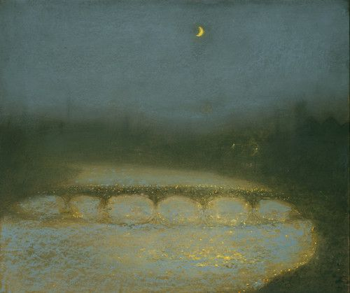 Richard Cartwright, Nocturne in Blue and Gold Pastel 17 x 20 ins (43.18 x 50.80 cms) Sold