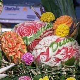 carved melons