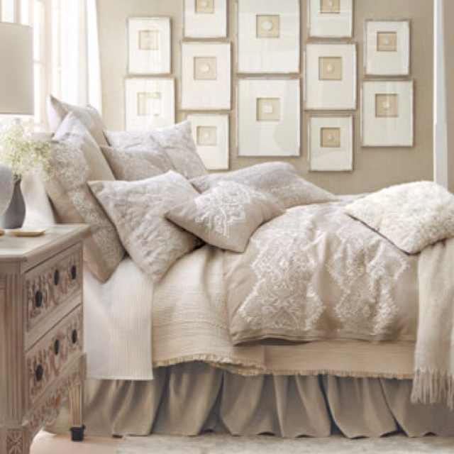 Callisto Home - Glory Bed Linens - Horchow!  A good reason to never get out of bed: Idea, Guest Bedrooms, Frames, Colors, Galleries Wall, Master Bedrooms, Beds Linens, Guest Rooms, Neutral Bedrooms