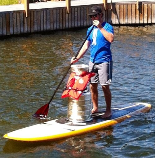 Mike Richards hits the water with Lord Stanley's Cup
