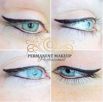 Gorgeous almond-shaped Blue eyes perfected with the application of softly winged black/brown eyeliner. <3 This enhances both the shape and color of her eyes. A gentle procedure performed with complete comfort and as you can see from these 'immediately after' pics, no swelling or bruising :D!   #permanenteyeliner #liners #softlywinged #softwing #black #gentleprocedure #painless #pmu #PMUbyG #PermanentMakeupbyGwendoline #safetyfirst #perfection