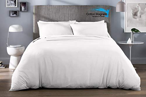 Cotton Magneto Luxury Crafted 800 Tc Italian Finish 100 Organic Cotton White Solid Queen Size 88x88 Inch Duvet Cover Quilt Cover Sets Quilt Cover Bed Styling