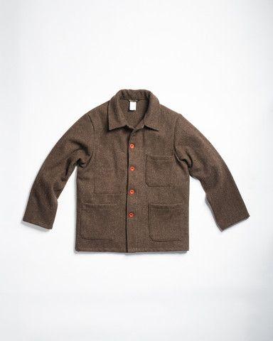 Le Laboureur Wool Work Jacket Brown