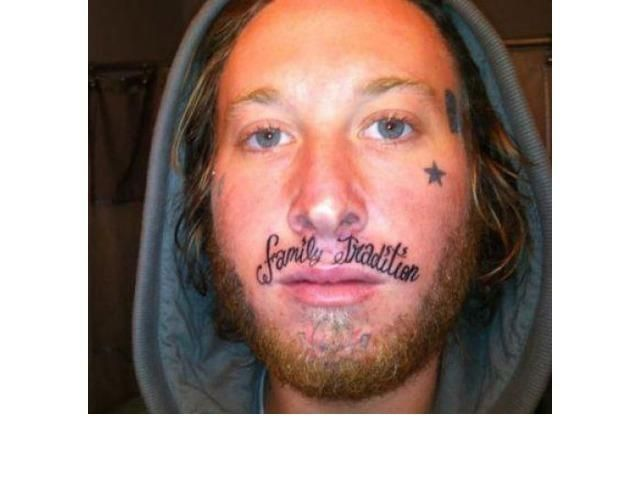 39 Tragically Bad Face Tattoos...I Can't Look Away. (Slide #20) - offbeat