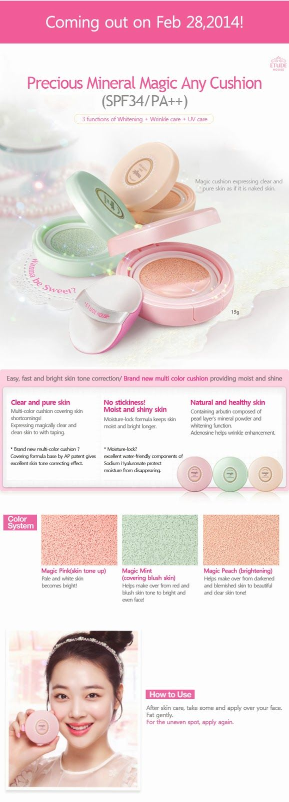 Etude House Korea Jakarta: Etude House Precious Mineral Magic Any Cushion SPF...