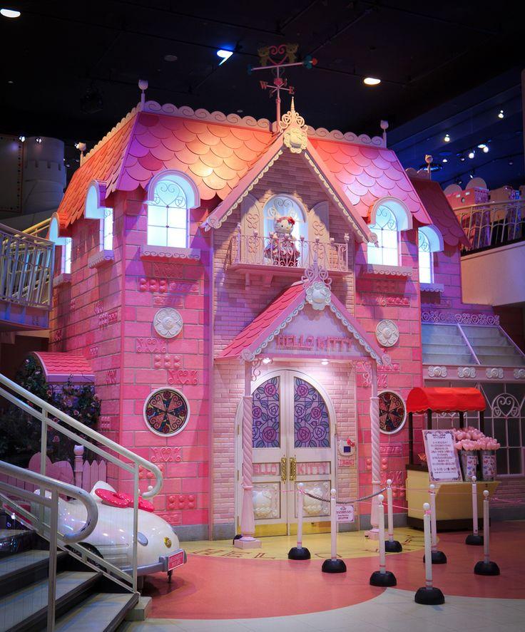 Hello Kitty Houses Pes 25 Nejlepch Npad Na Tma Hello Kitty House Na  Pinterestu .