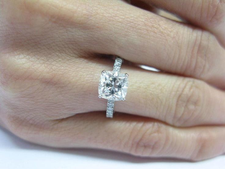 Tiffany Amp Co Platinum Novo Engagement Ring 1 78ct H Vs2