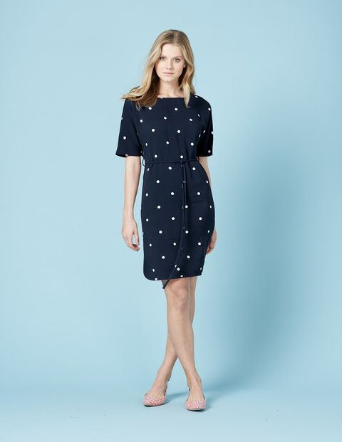 Chic Belted Dress WW029 Smart Day Dresses at Boden