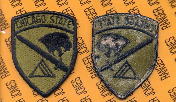 US Army ROTC Chicago State University, Ill. CSU OD Green & Black patch m/e | eBay
