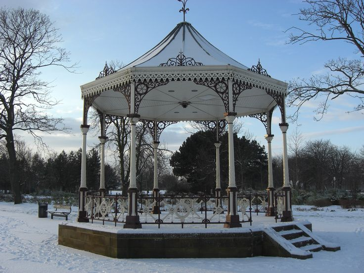 Albert Park, Middlesbrough. Music stand in Albert park .which was given to the people of Middlesbrough in the 1800 ...