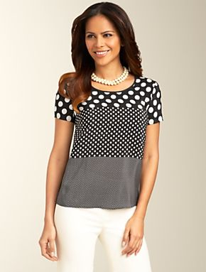 Talbots - Mixed-Dot Top | Blouses and Shirts | Petites