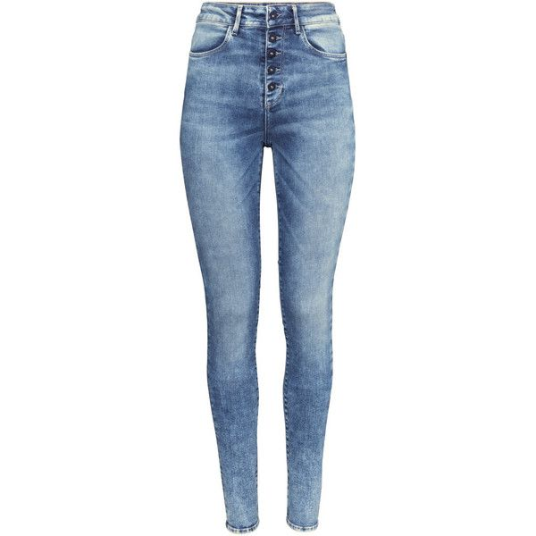 H&M Skinny High Jeans found on Polyvore