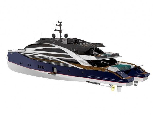 View large version of image: The Sabdes 50 meter Catamaran - Profile