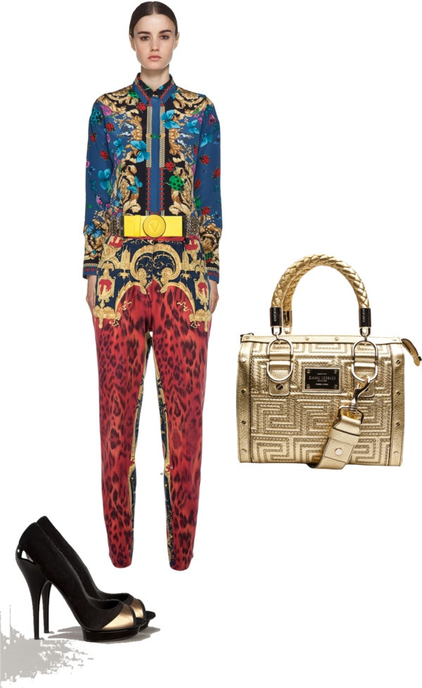 """all Versace"" by artofimage on Polyvore"