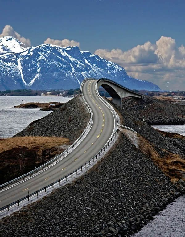 Atlantic Road, Averoy, Norway One of the most #spectacular roads in the world - The #AtlanticRoad through Norway - in our 'Top 10 Most Spectacular roads In The World' See some breathtaking and dangerous roads...click on the image