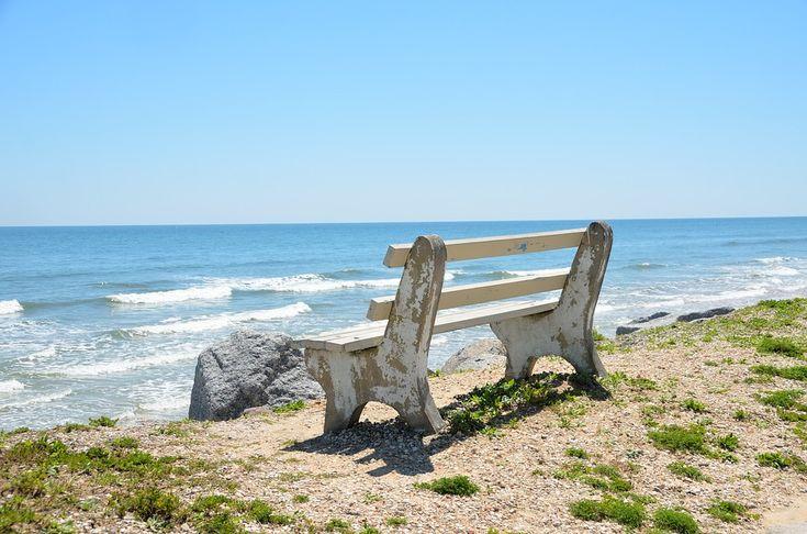 벤치 의자, 간과, 비치, 바다, 파도, 물, 모래, 야외 활동, 플로리다, 열대의, 하늘, 자