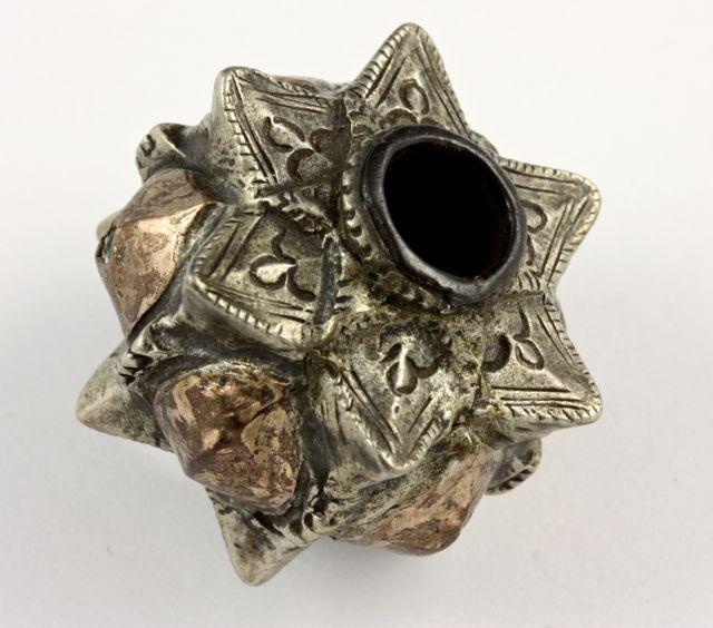Sumba heirloom bead, silver, antique. Aceh, Indonesia.
