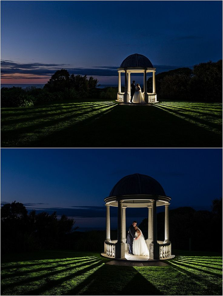 Dramatic wedding photography in the pavilion at Tregenna Castle