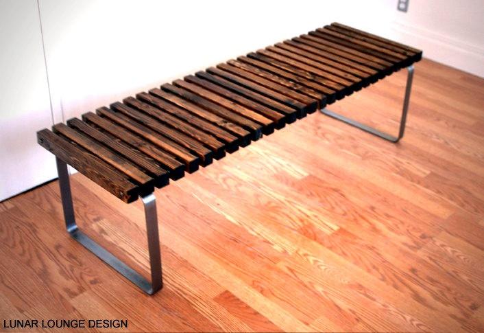 SPB-5 spruce slat bench  Eames Era - Mid Century Modern Design. $675.00, via Etsy.