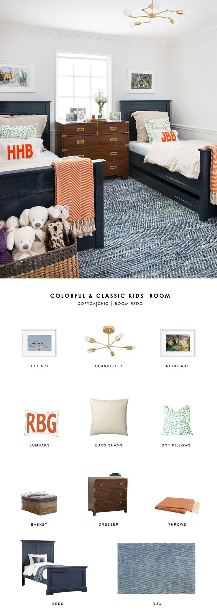 Copy Cat Chic Room Redo | Colorful and Classic Kids' Room