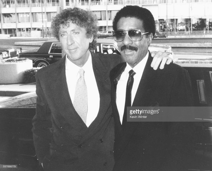 Comic actors Gene Wilder (left) and Richard Pryor at the premiere of their new movie 'See No Evil, Hear No Evil' in Los Angeles, May 7th 1989.