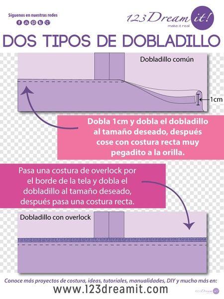 Para que tus dobladillos queden perfectos, solo da click en la imagen y conoce los dos tipos más comunes de dobladillos que existen a máquina