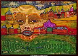 Hundertwasser's irinaland curated in a Japanese Museum Exhibition