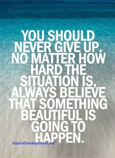 Inspirational Quotes On Never Giving Up