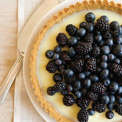 Food: Eleven Gorgeous Fruity Tarts!  (via White-chocolate tart with berries at Chatelaine)
