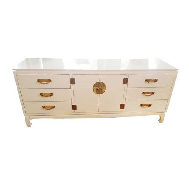 Image of Chinoiserie Style White Chest