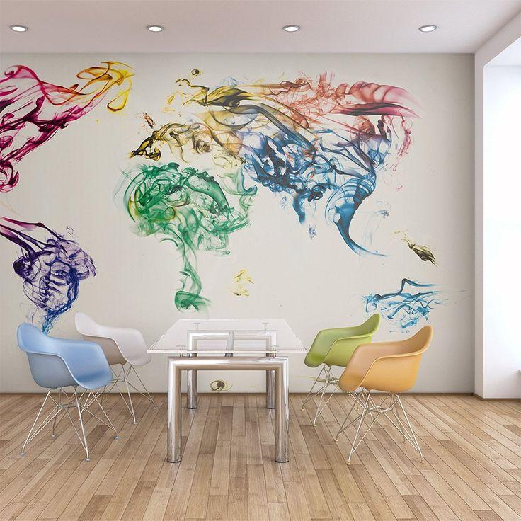 Vlies Tapete !!! Top !!! Fototapete !!! Wandbilder XXL !!! 350x270 cm - Weltkarte !!!! 10040910-9: Amazon.de: Küche & Haushalt