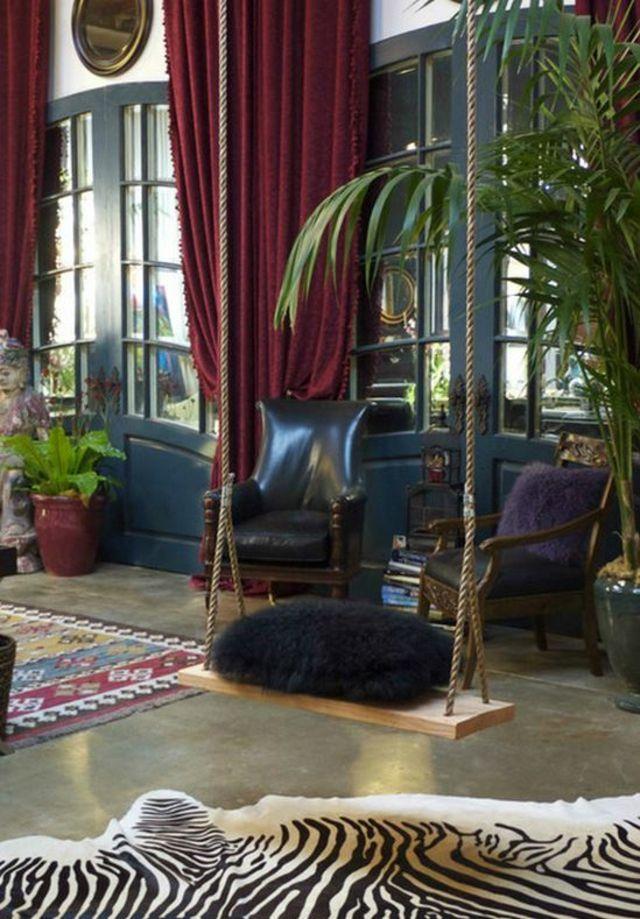 un int rieur sympa avec une balan oire pour adulte balancoire en bois pour enfants et simple. Black Bedroom Furniture Sets. Home Design Ideas
