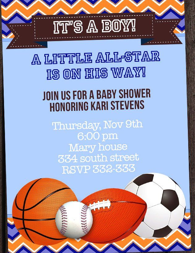 sports themed baby shower invitations 7