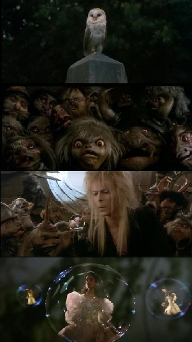 Labyrinth, 1986 (dir. Jim Henson). La mia recensione @ http://postmodemplan.wordpress.com/2013/02/18/labyrinth-dove-tutto-e-possibile-da-flop-a-stracult/