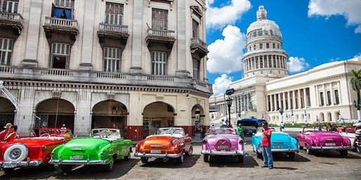 Tourism in Cuba is expected to see a hefty boost in the coming years with the USA lifting restrictions -- we recommend you see the country now to get a glimpse of Havana's original old-world charm. This 10-night £1099-per-person deal from British Travel Award-winners The Holiday Place also takes you to Playa Jibacoa, a ...