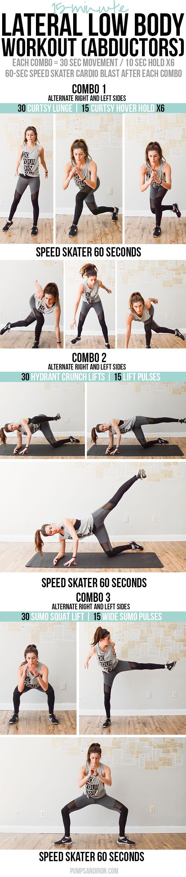 15-Minute Lateral Low Body Workout (focus on abductors)