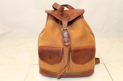 Timberland USA Distressed Chestnut Mahogany Brown Nubuck Leather Backpack Bag | eBay