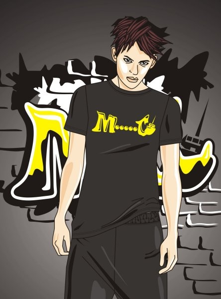 t-shirt graphics - hip hop style