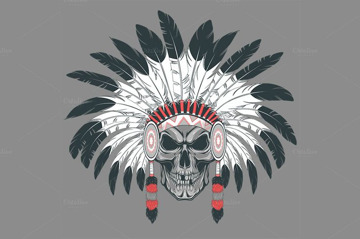 Indian skull chief by Mark2000 on @creativemarket