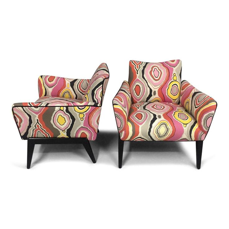 italian mid century lounge chairs in the style of ico parisi a pair