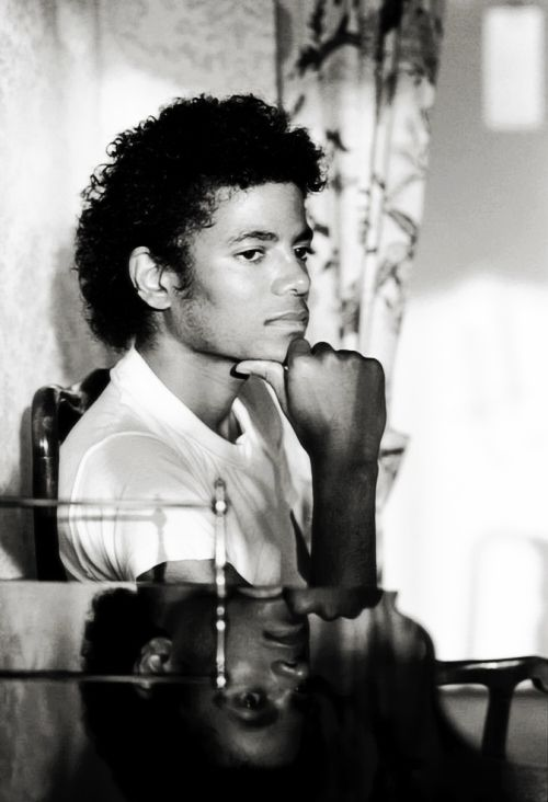 Michael Jackson with a demeanor he should have kept in preparation, for what the world had to offer.