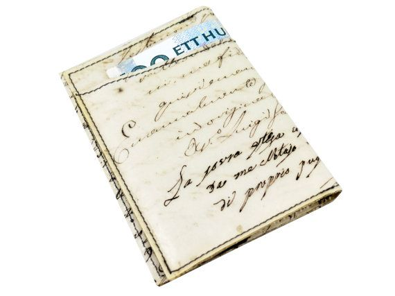 Document Holder with Recycled Handwritten by CeeBeeRecycle on Etsy