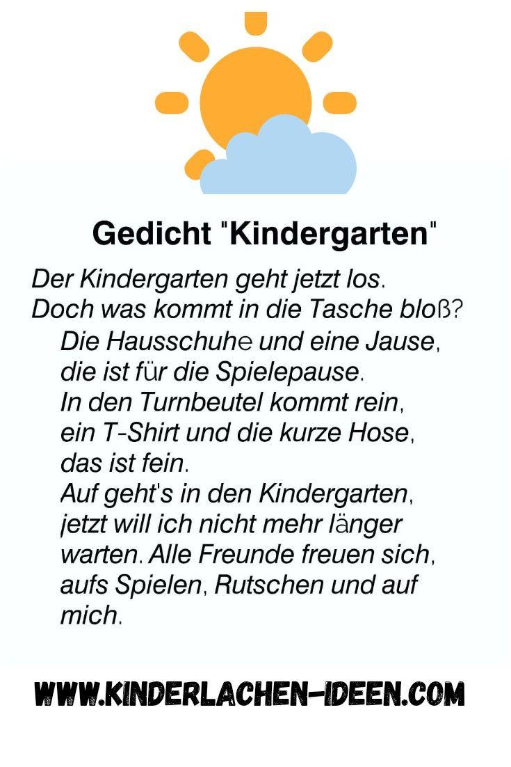 Gedicht Zum Eintritt In Den Kindergarten