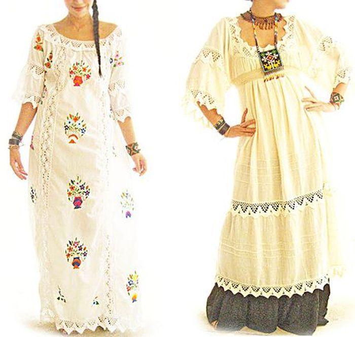 tradicionales vestidos de novia de México, con los colores típicos y  hermosos diseños