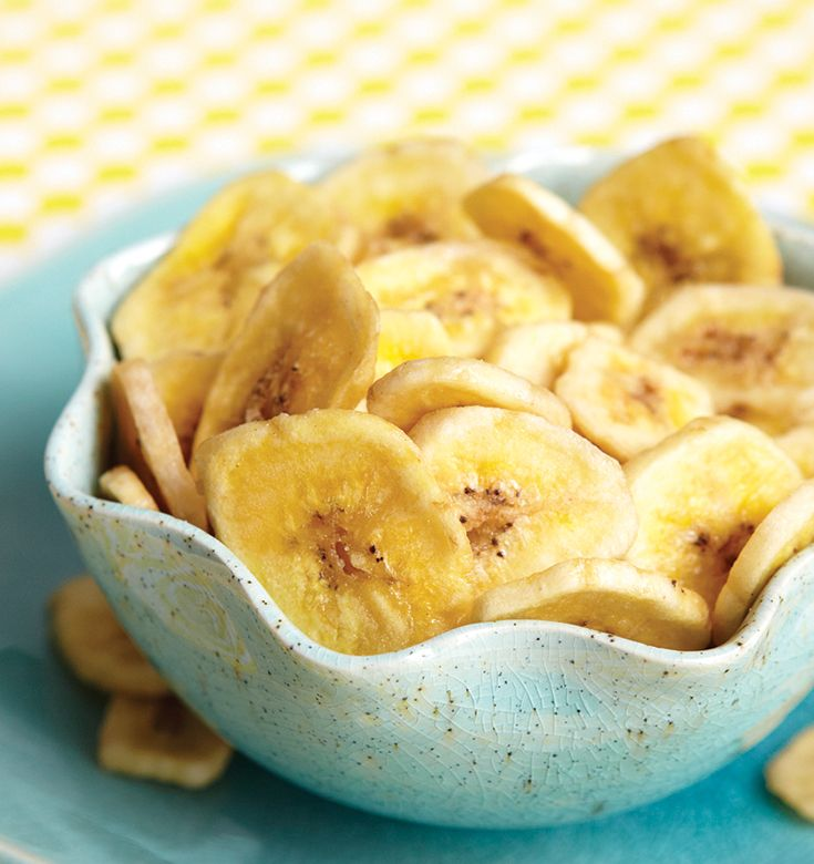 Baked banana chips? Yes please!