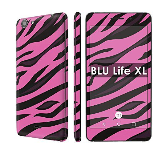 "Buy BLU Life XL Decal Mania Skin Sticker [Matching Wallpaper] - [Pink Tiger Skin] for BLU Life XL [5.5"" Screen] NEW for 2.97 USD 