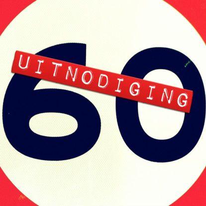 uitnodiging 60 jaar - Uitnodigingen - Kaartje2go