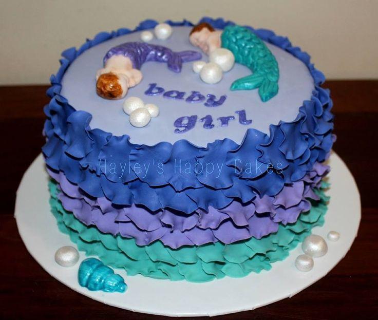Beautiful Mermaid Baby Shower Cake